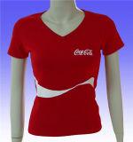 T-shirt seco do ajuste do esporte das mulheres do produto da fábrica