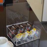 صغيرة شقّ مكان صندوق, أكريليكيّ بلاستيك شفّاف قهوة شام [ستورج بوإكس]. شريكات [ستورج بوإكس]
