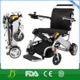 Cadeira de rodas de pouco peso de alumínio da bateria de lítio para deficientes motores