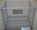 産業記憶の網の容器を折るスタック可能金網のバスケット