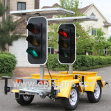 LED clignotante Stop Sign Mobile Solar Traffic Signal Light