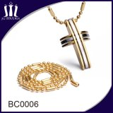El último grano largo de lujo de la bola del oro del acero inoxidable encadena el collar