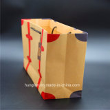 impresión 4c en la bolsa de papel de Brown Kraft para la ropa