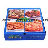 De witte Buiten en Natuurlijke/Doos van de Pizza van Kraftpapier Binnenlandse (PB160624)