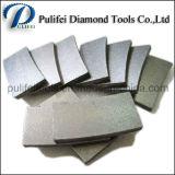 La saldatura della lastra del granito di taglio di segmento del diamante su di pietra ha veduto