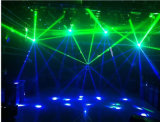 Luz principal movente do efeito do diodo emissor de luz com o estroboscópio que escurece para o estágio