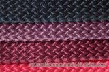 Tela del telar jacquar del terciopelo del terciopelo de dos tonos