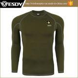 Sous-vêtements thermiques Long-Sleeved de sport tactique extérieur de formation