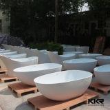 Piccola vasca di bagno di superficie solida indipendente di formato su ordinazione
