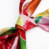 Digital-Drucken-Silk quadratisches Schal-Weibchen