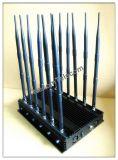 Telefone de pilha Desktop preto poderoso & Wi-Fi & jammer do GPS, sinal Desktop de Lojack 3G G/M do estilo novo que atola o jammer do dispositivo