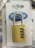 38mm Heavy Duty Padlock Brass Combination Lock W / 4 Dials Code Lock