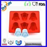 BPA livram a bandeja do cubo de gelo do silicone de Star Wars, molde do cubo de gelo do silicone do produto comestível