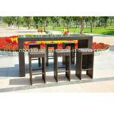 Muebles de mimbre al aire libre de 6 Seater - conjunto de la barra de la rota