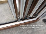 Holz mag Rehau/Veka Belüftung-Profil Bifold/faltendes schiebendes Fenster