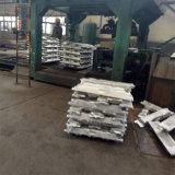 Preço de fábrica de alumínio dos lingotes 99.7% da pureza elevada
