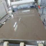 Pierre artificielle en gros de quartz de la Chine Brown pour le revêtement de mur (Q1609292)