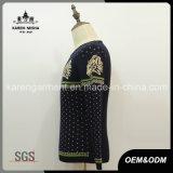 Maglione lavorato a maglia tigre rotonda lunga del collo del manicotto per gli uomini