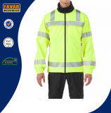 도매 소통량 Hivis 방수 사려깊은 안전 Softshell 재킷