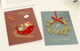 Fábrica Big Quality Manufacture Handmade 3D Christmas Card
