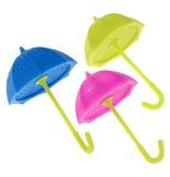 De mini Zeef van de Thee van het Silicone van de Vorm van de Paraplu met Deksel