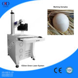 sistema verde da marcação do laser 532nm para ovos