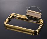 Parachoques de aluminio exquisitos con la caja de acrílico plateada espejo de la contraportada para el iPhone 4/4s