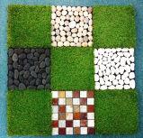 Telhas artificiais da grama e telhas DIY fácil da pedra