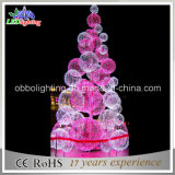 Свет вала шарика рождества пинка 3D напольный СИД декора рождества