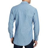 Pantalones vaqueros ocasionales chaqueta de la manera de los hombres y camisas de los pantalones vaqueros de la alineada