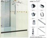 Accessoires en verre de salle de bains de matériel de porte coulissante d'ajustage de précision de porte