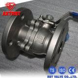 2PC o RUÍDO do aço inoxidável Pn16/Pn40 flangeou válvula de esfera