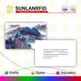 Carte en plastique sans contact personnalisée d'IDENTIFICATION RF polychrome de modèle