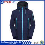 Chaquetas impermeables al aire libre de la alta calidad de la chaqueta encapuchada comprable de Softshell (YRK111)