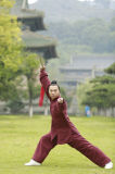 형식 Kongfu 더하기 두꺼운 스포츠 편한 한 벌 내의 남자의 고급 Flax