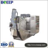 Equipo de desecación de la prensa de filtro de tornillo del lodo de las aguas residuales de la cocina