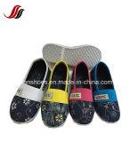 Обувь ботинок холстины Slip-on женщин плоская обувает оптом (FF-8-01)
