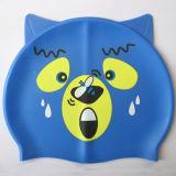 Chapéu da natação do silicone dos desenhos animados do urso para crianças