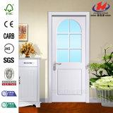 Дверь плоского стекла нутряная деревянная
