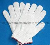 Дешевый белый хлопок связал работая трудные перчатки/Mittens