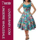 Одежды женщины оптовые одевают вскользь ретро Stye (L36108-1)