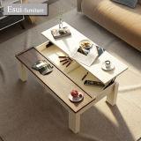 緩和されたガラスの居間の家具のコーヒーテーブルとMDF