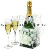 Le vin réutilisable de 4 bouteilles de tissu non-tissé amical fait sur commande promotionnel d'Eco portent le sac