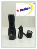 3-Mode tattico Powerful Brightest Zoom Rechargeable Flashlight
