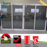Le bois allemand de Renolit aiment des portes en verre de glissement de PVC