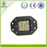 4 인치 24W 크리 말 Square Flush Mount Flood LED Work Light