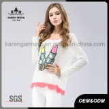 Коренастый свитер рубчика шнурка пинка Sparkle
