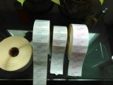 Frágil papel de etiqueta