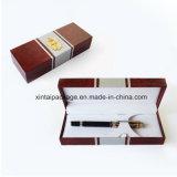 Древесина, пластичная коробка карандаша картона с PU, бархатом