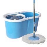 Mop magico di pulizia di rotazione calda dei prodotti 360 con la ricarica di Microfiber